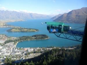 View from the gondola ride in Queenstown